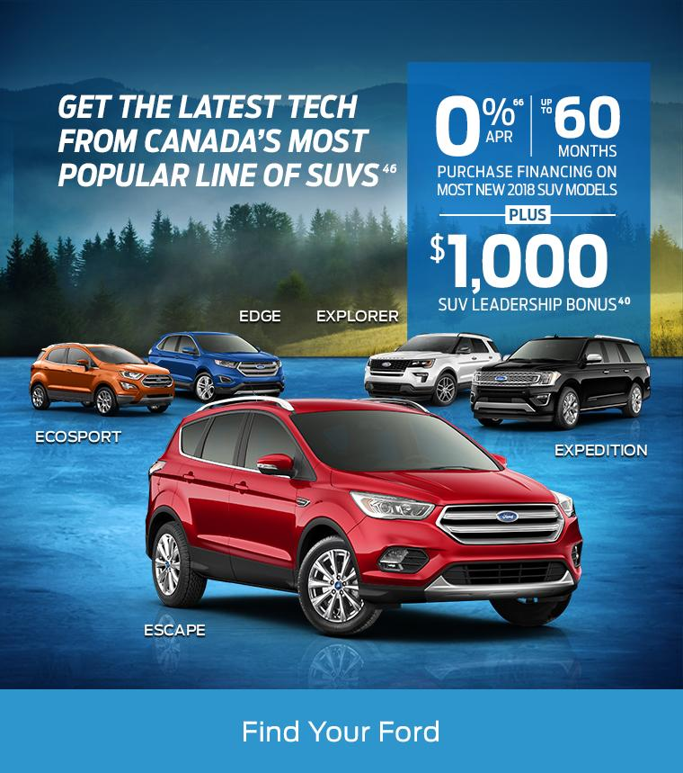 $1,000 SUV Leadership Bonus MSA Ford