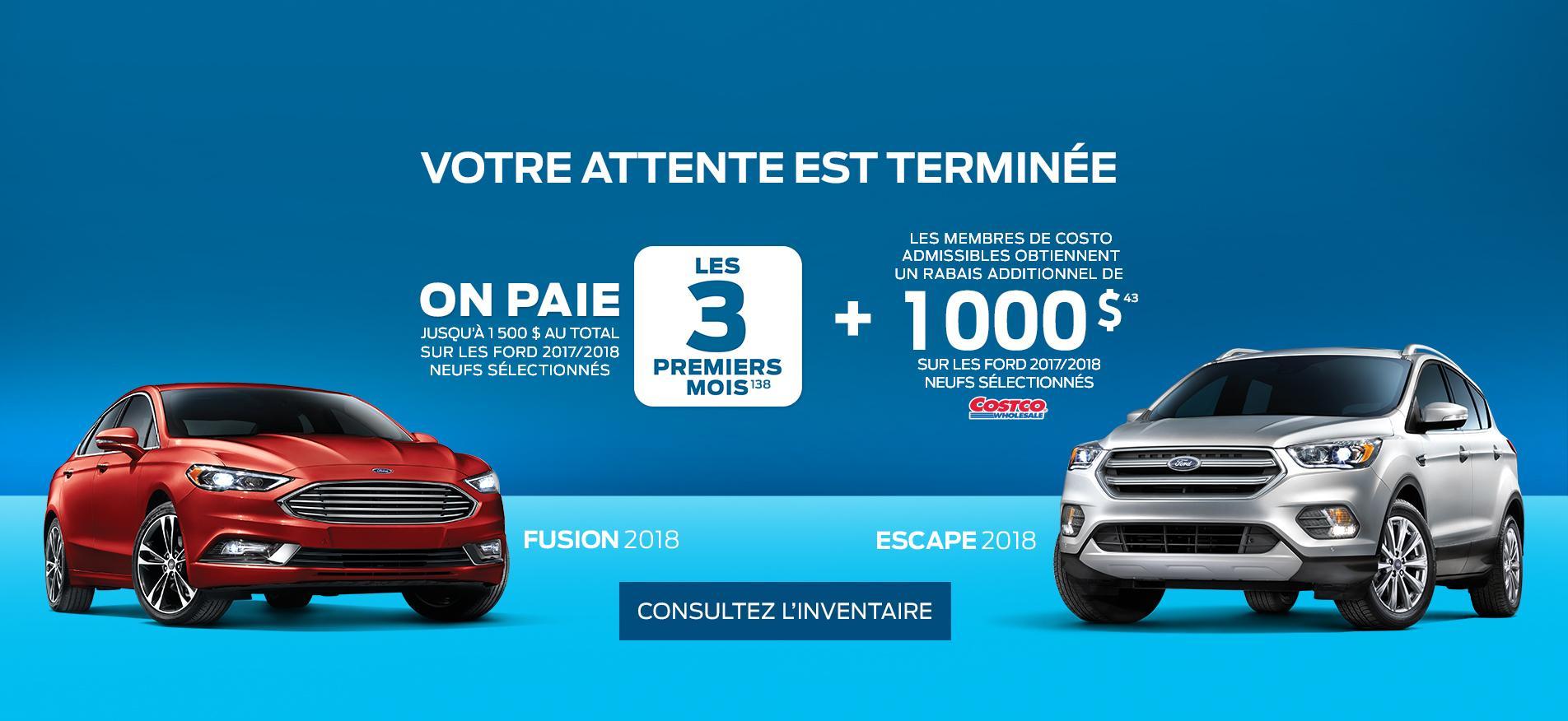 Offre spéciale de fin d'année pour les véhicules Ford