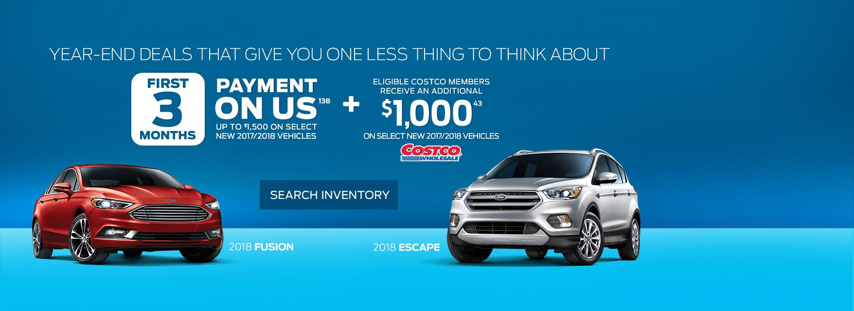 Ford Vehicle Year-End Offer