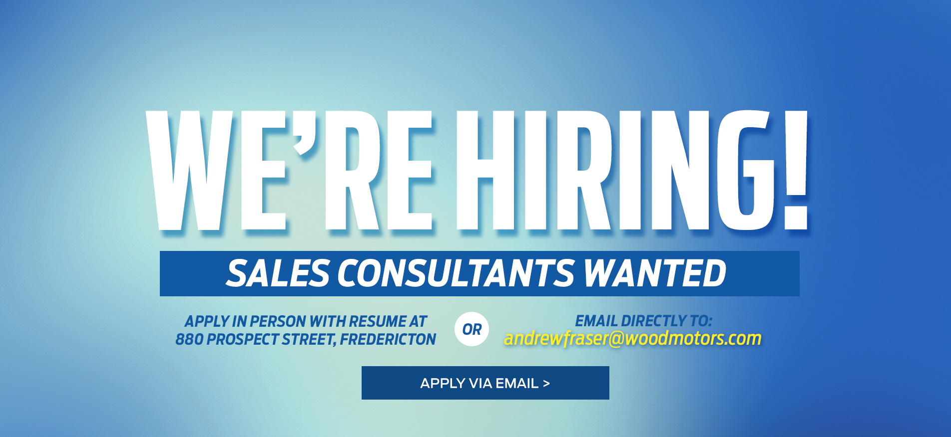 Wood Motors Ford We're Hiring!