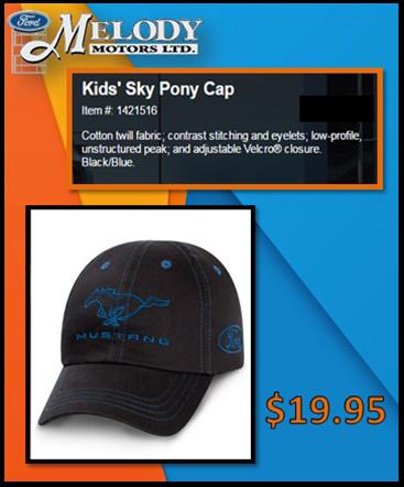 Kids pony cap