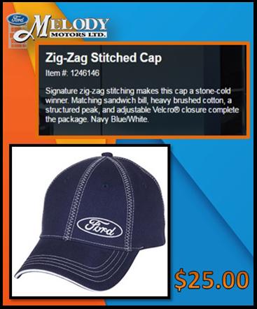 Zig Zag stitched cap