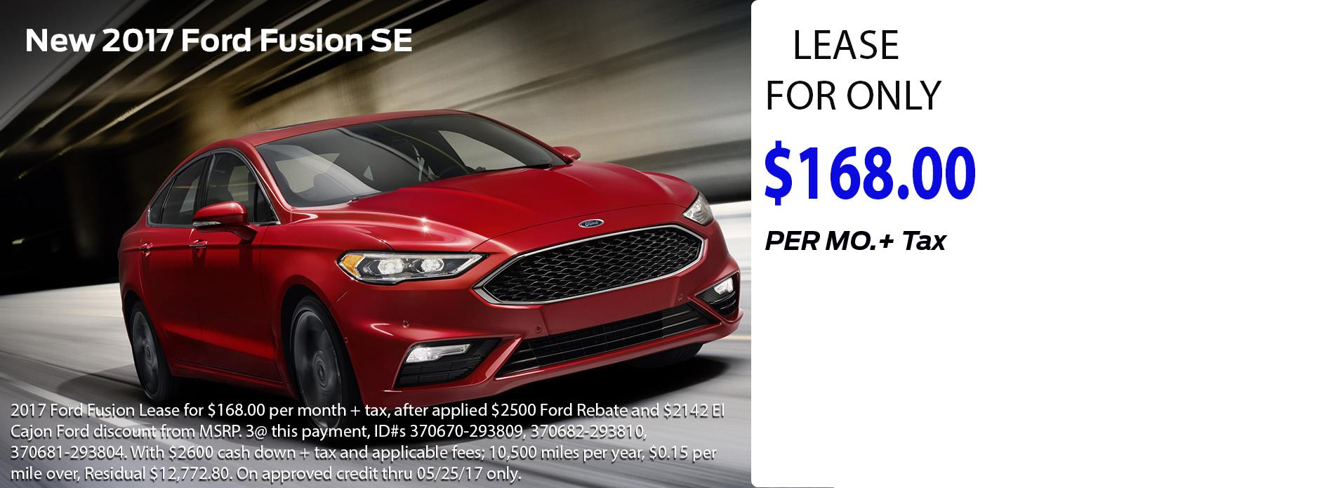 2017 Ford Fusion SE Offer