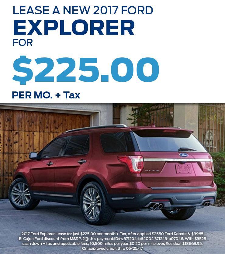 2017 Ford Explorer Offer
