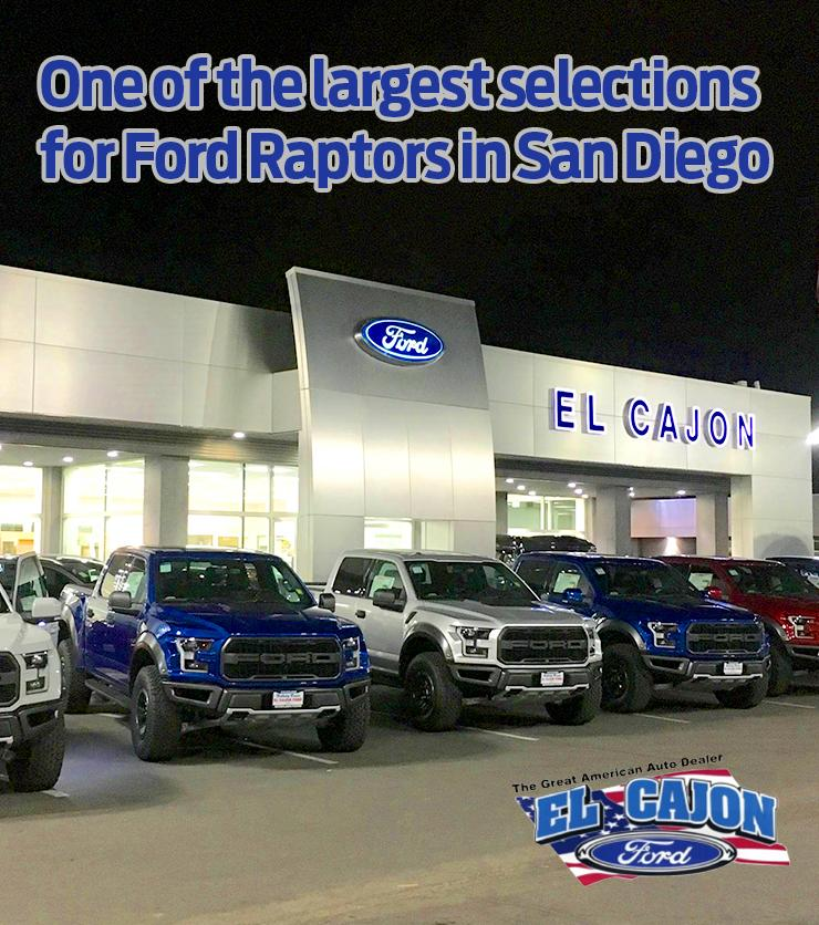 Largest Ford Raptors in San Diego