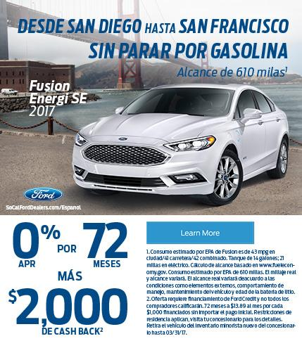 Ford Fusion Energi from SD to SF