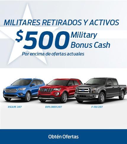 $500 Military Bonus Cash