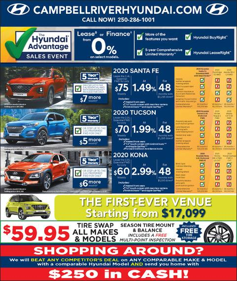 Campbell River Hyundai Current Month Offers