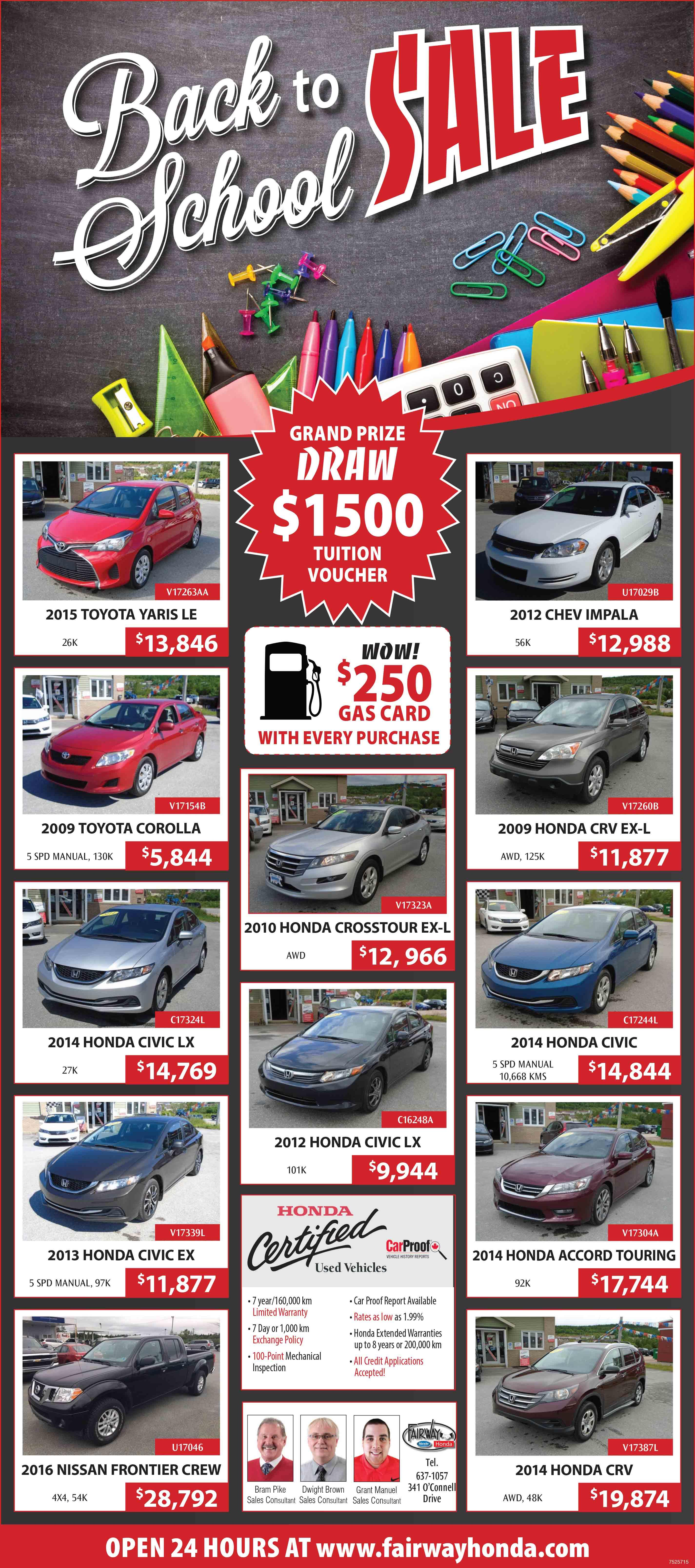 Used Car Sales banner