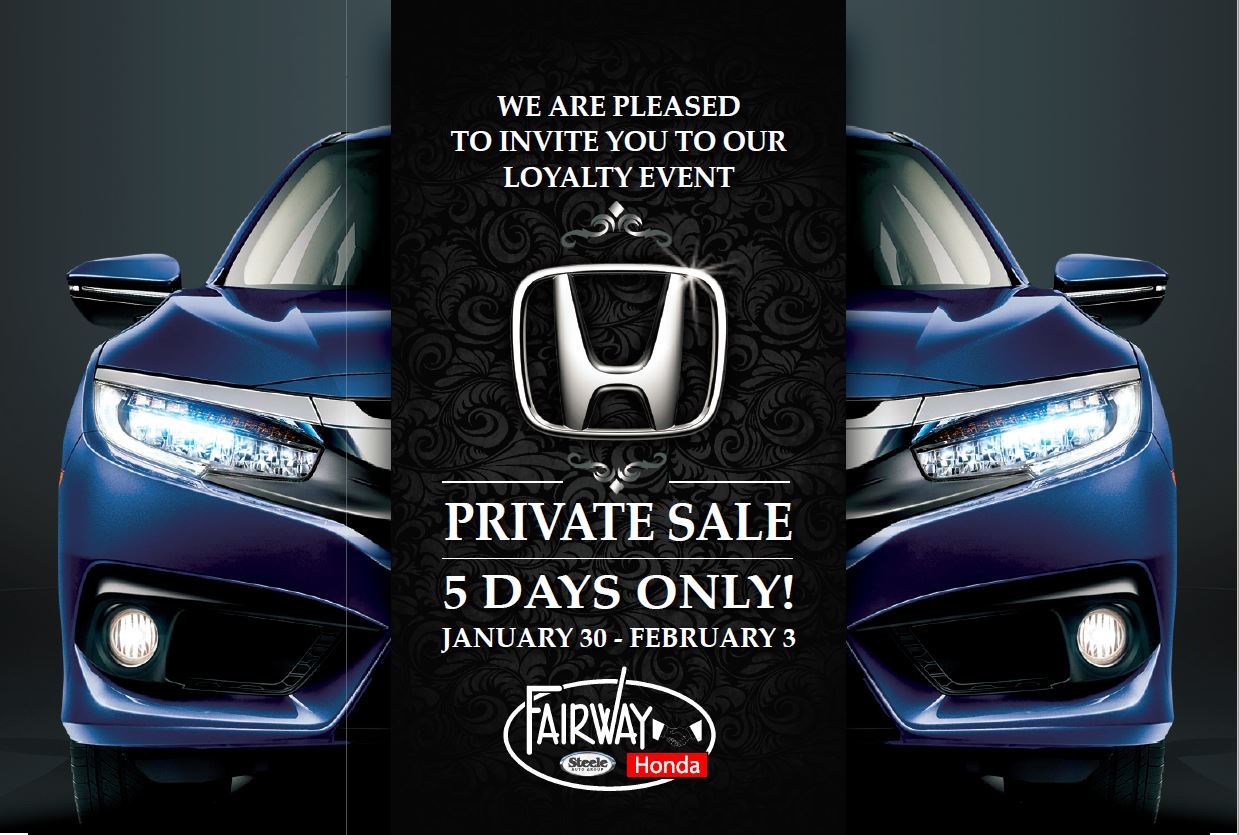 Fairway Honda - Private Sale - 5 DAYS ONLY