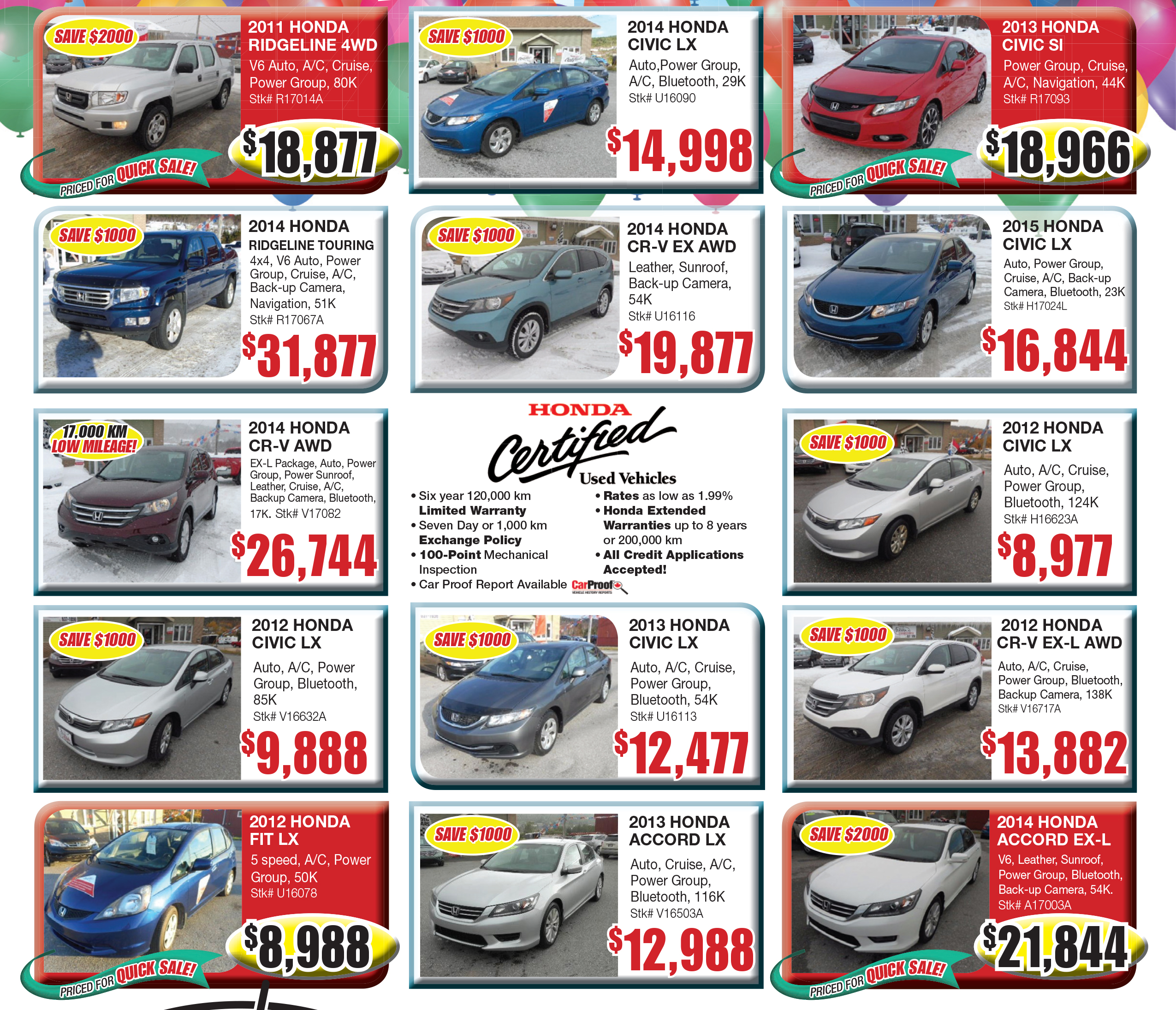 Certified Used Specials