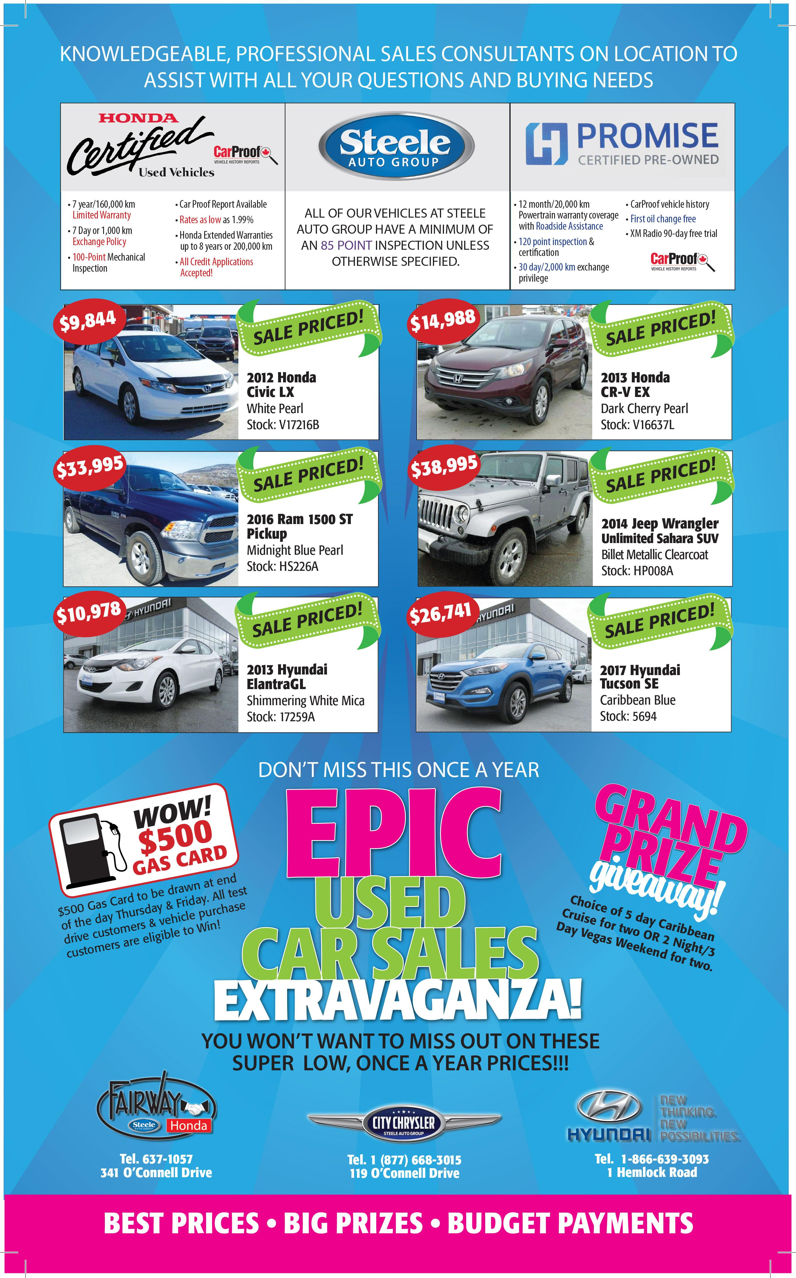 Steele Auto Group - Epic Used Car Sales Extravaganza