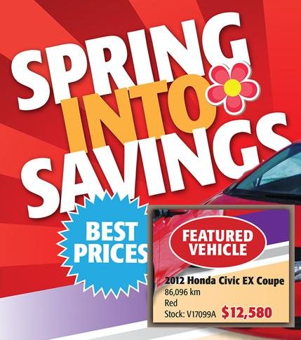 April Used Car Flyer