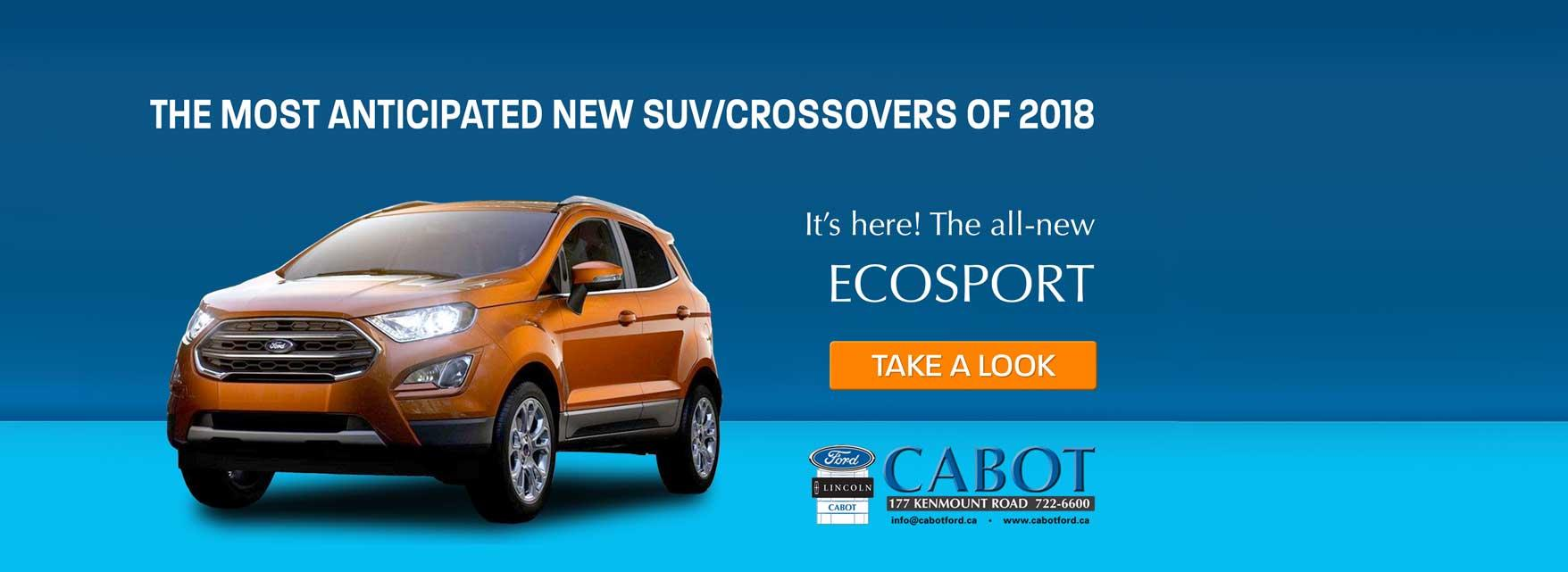 2018 Ford EcoSport SUV Crossover in St. John's
