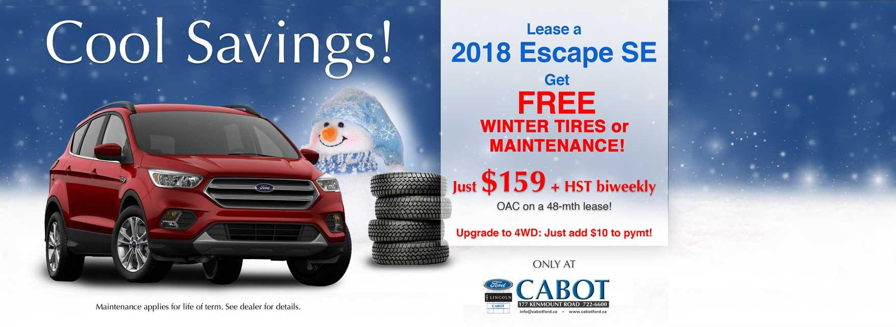 2018 Ford Escape deals in St. John's
