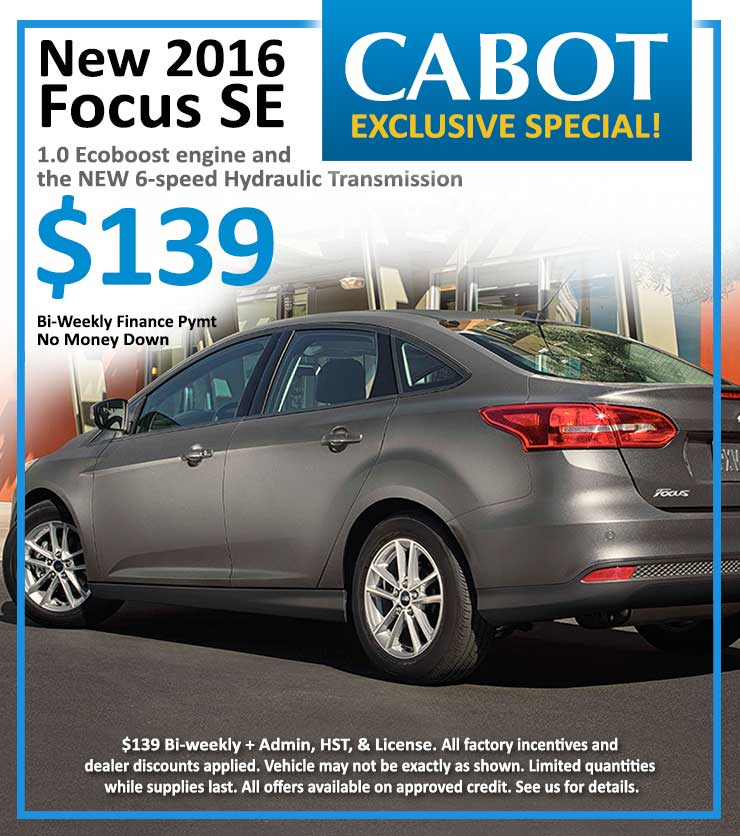 Click for Ford Focus deals in St. John's