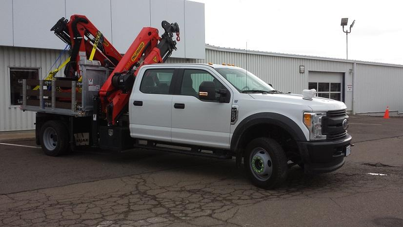 Custom Built Boom Truck with Galvanized Deck
