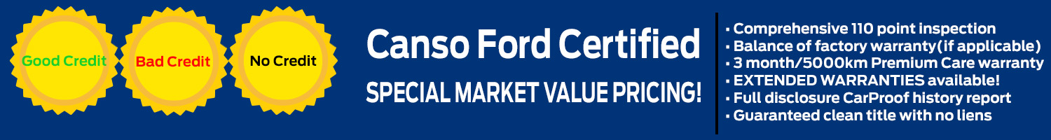 Special Market Value Pricing - Canso Ford