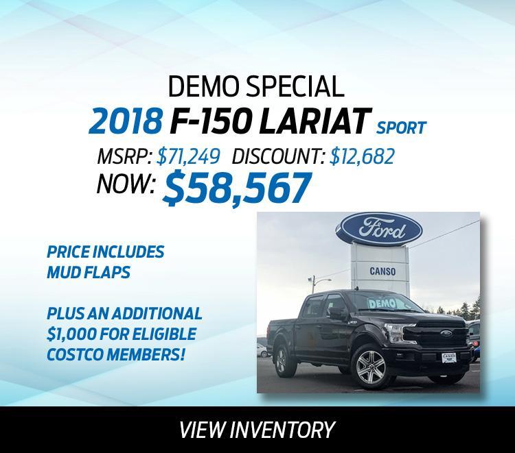 2018 F-150 Demo Special