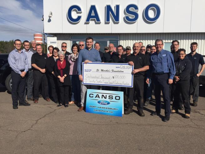 Canso Ford Hospital donation