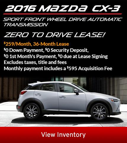 2016 CX-3 lease