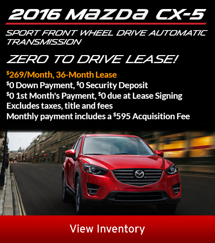 2016 CX-5 lease