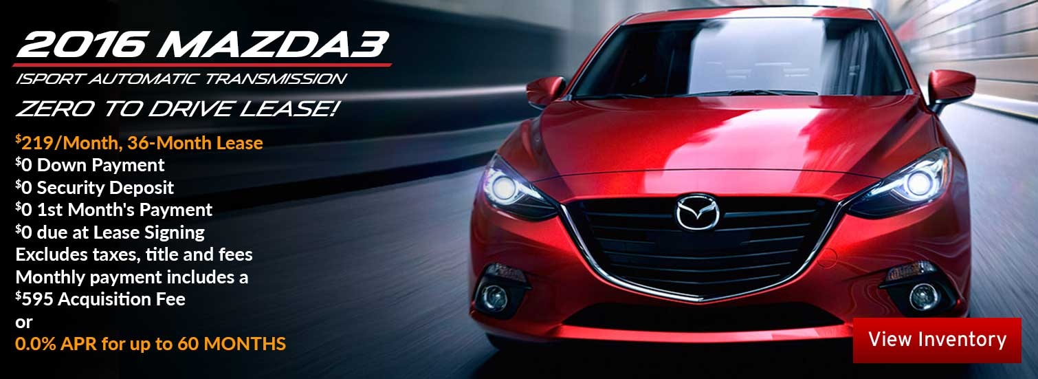 2016 Mazda3 lease