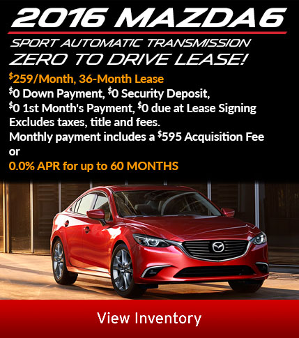2016 Mazda6 lease