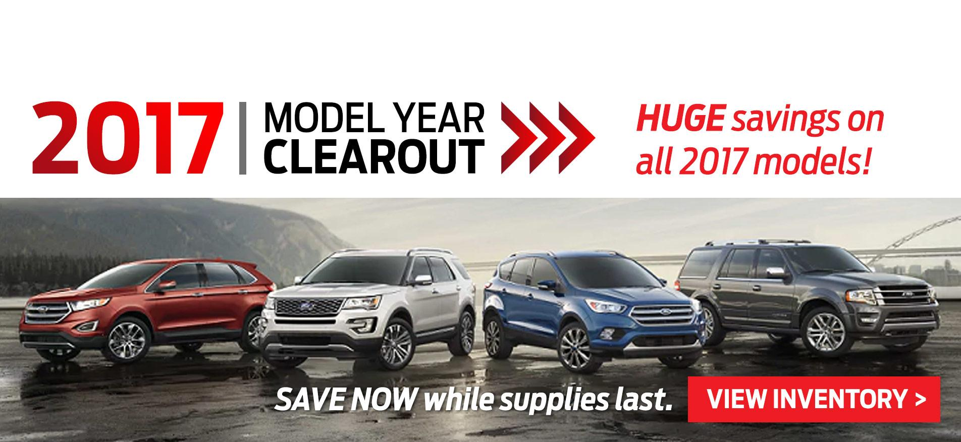 Cavalcade Ford 2017 Model Year Clear out