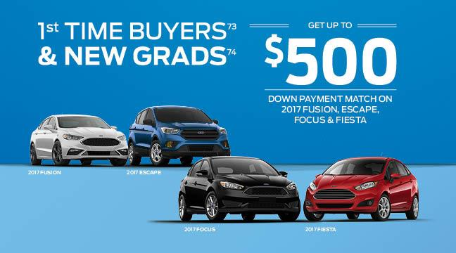 Cavalcade Ford - First Time Buyers and New Graduates special