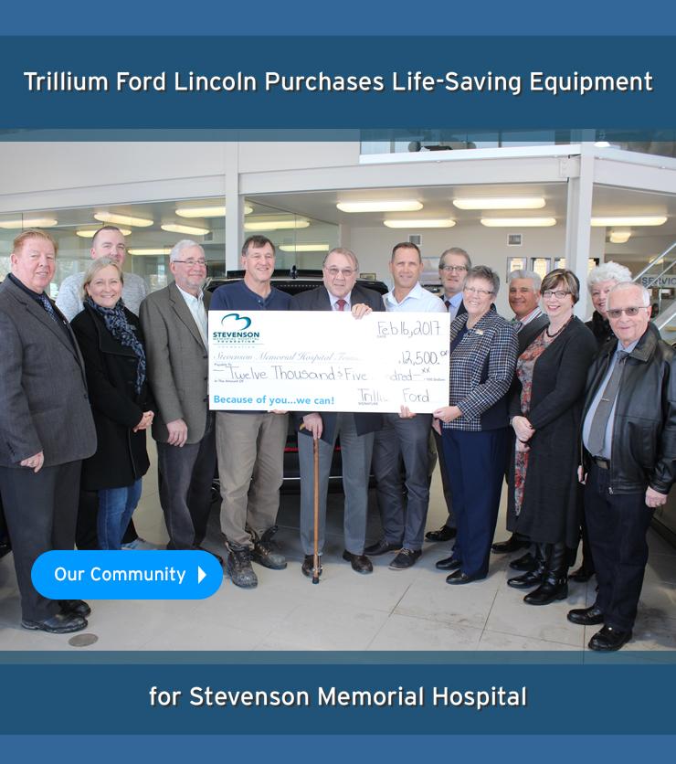 Trillium Ford Donates to Stevenson Memorial