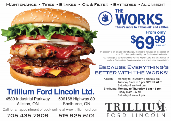 Trillium Ford Lincoln Service & Parts Offers