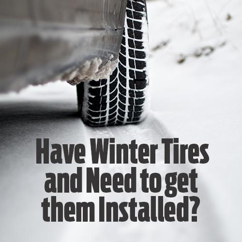 winter tire installation