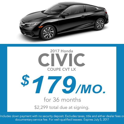 Civic Coupe Lease Offer