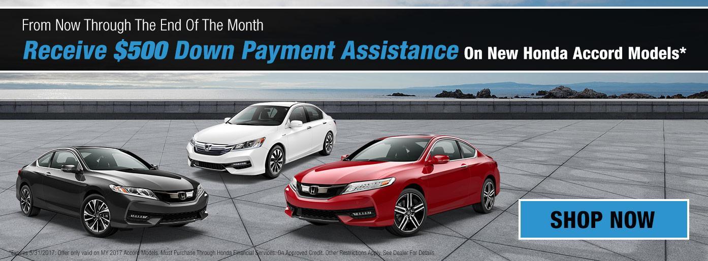 $500 DPA - 2017 MY Honda Accords