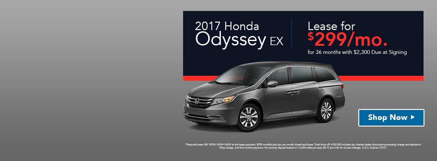 2017 Honda Odyssey EX Lease Special