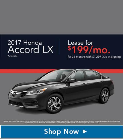 2017 Honda Accord LX Lease Special