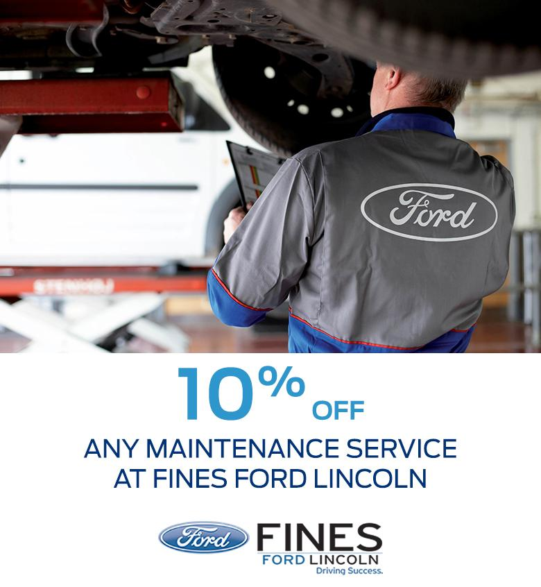 Service offer Fines Ford