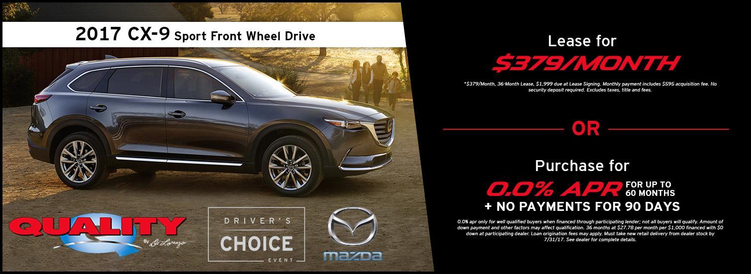2017 Mazda CX-9 Special