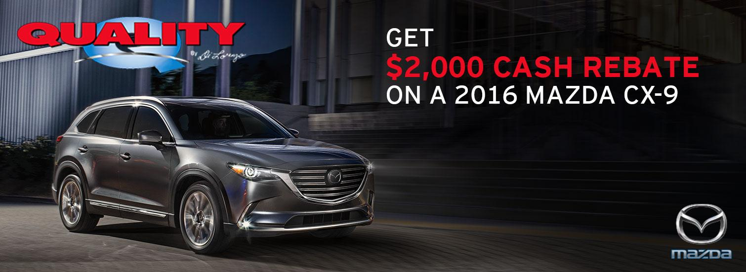 2016 Mazda CX-9 Cash Rebate Special