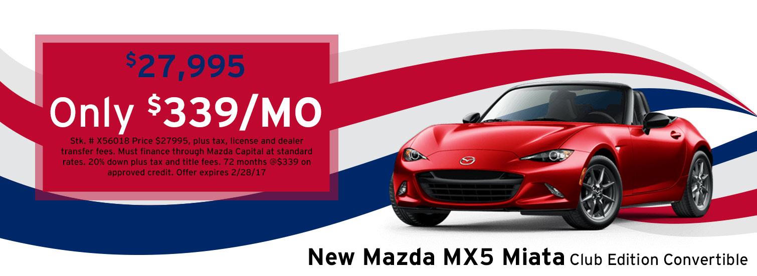 Mazda MX-5 Miata Lease Special