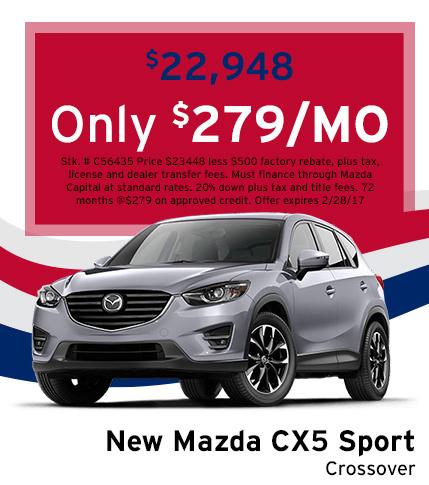 Mazda CX-5 Sport Lease Special
