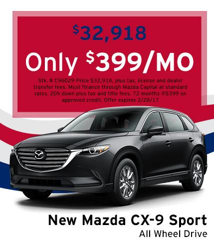 Mazda CX-9 Sport Lease Special