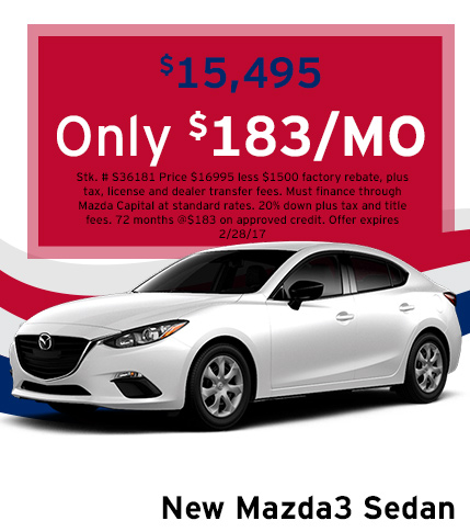Mazda3 Lease Special