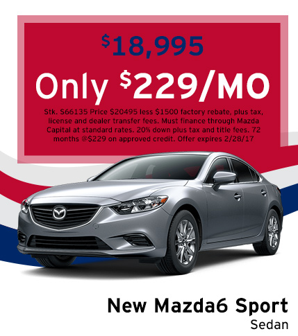 Mazda6 Lease Special
