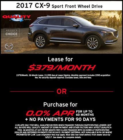 2017 CX-9 Offer