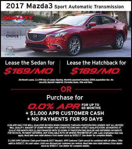 2017 Mazda3 Offer