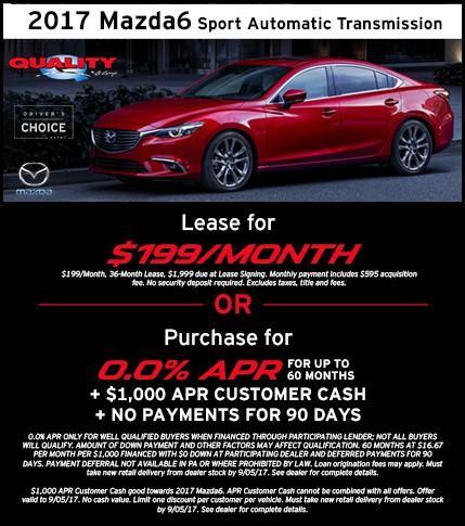 2017 Mazda6 Offer