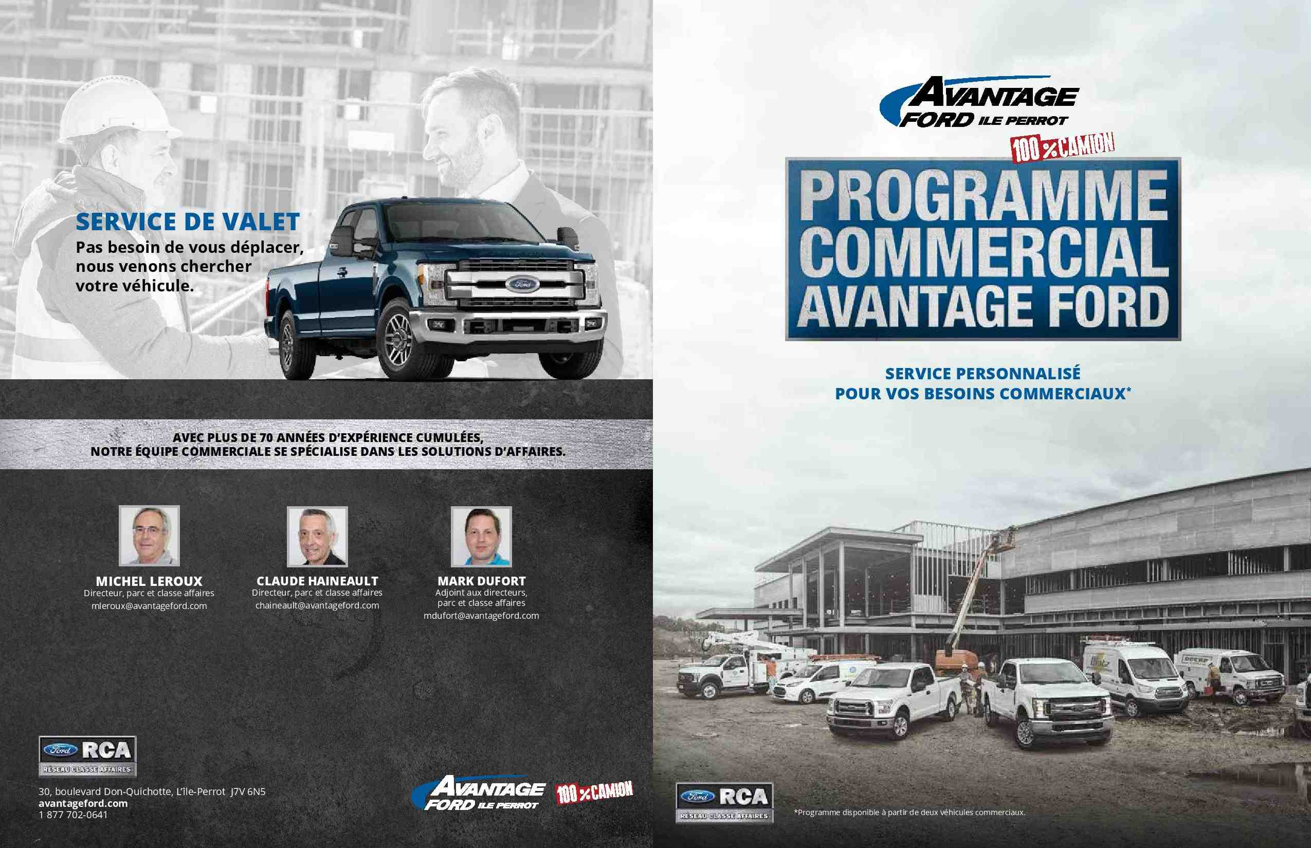 Advantage Ford Commercial Program