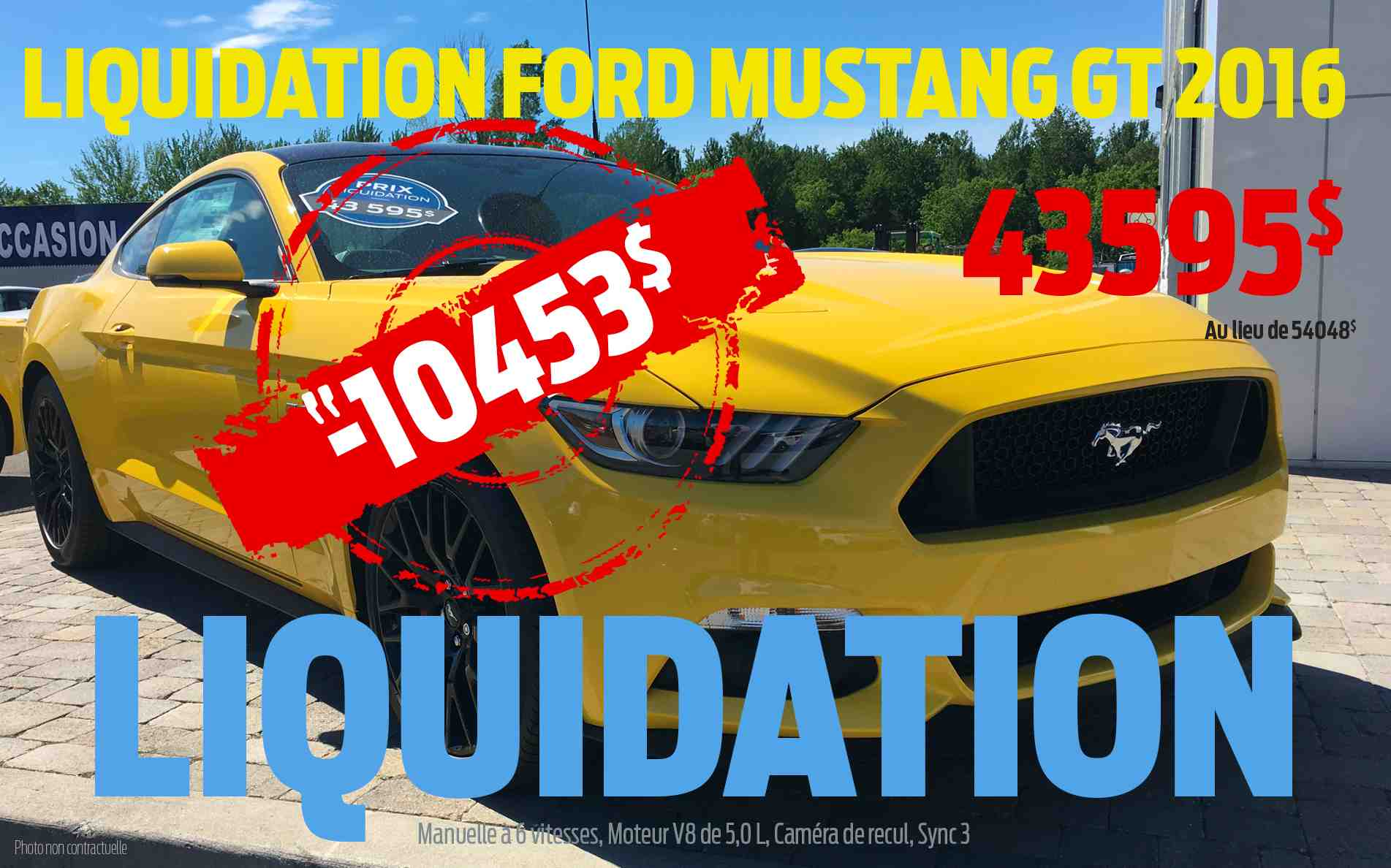 Offre Mustang 2016
